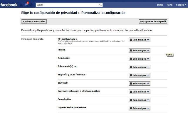 privacidad facil en facebook