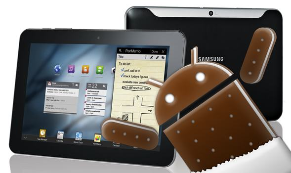 galaxy tab con android ics