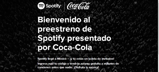 invitaciones spotify coca cola mexico